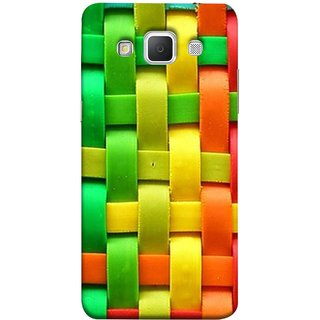 FUSON Designer Back Case Cover for Samsung Galaxy Grand Max G720 (Bright And Beautiful Colour Strips And Band Wave )