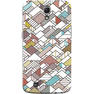 FUSON Designer Back Case Cover for Samsung Galaxy Mega 6.3 I9200 :: Samsung Galaxy Mega 6.3 Sgh-I527 (Watercolor Horizontal Vertical Vector Lines Colourful)
