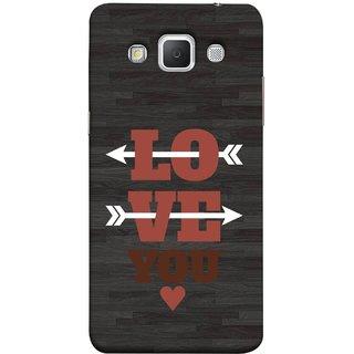 FUSON Designer Back Case Cover for Samsung Galaxy Grand 3 :: Samsung Galaxy Grand Max G720F (Hearts Alone Arrow White Follow Worlds School )
