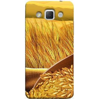 FUSON Designer Back Case Cover for Samsung Galaxy Grand Max G720 (Wheat Farmers Farms Morning Sunlight Bright Day)