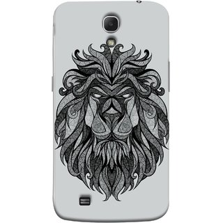 FUSON Designer Back Case Cover for Samsung Galaxy Mega 6.3 I9200 :: Samsung Galaxy Mega 6.3 Sgh-I527 (Jungle Ka King Pencil Pen Sketch Best Wallpaper)