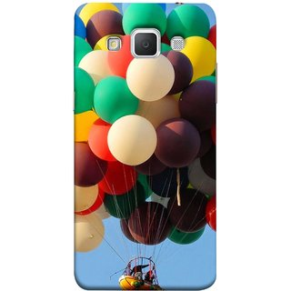 FUSON Designer Back Case Cover for Samsung Galaxy Grand Max G720 (Up Up Sky Blue Colourful Balloons Boat Man )