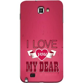 FUSON Designer Back Case Cover for Samsung Galaxy Note N7000 :: Samsung Galaxy Note I9220 :: Samsung Galaxy Note 1 :: Samsung Galaxy Note Gt-N7000 (Pyar Hai Tumse Heart Pink Red True )