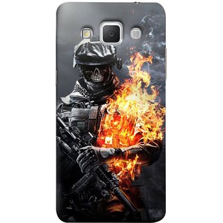 FUSON Designer Back Case Cover for Samsung Galaxy Grand Max G720 (Golden Division  Masks Iraqi Special Forces )