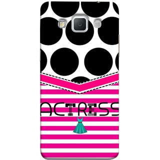 FUSON Designer Back Case Cover for Samsung Galaxy Grand Max G720 (Beautufil Actress Movies Bollywood Nice Pink Design Paper)