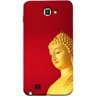 FUSON Designer Back Case Cover for Samsung Galaxy Note N7000 :: Samsung Galaxy Note I9220 :: Samsung Galaxy Note 1 :: Samsung Galaxy Note Gt-N7000 (Gautam Buddha Statue Scenary Lord Siddharth)
