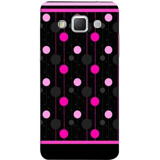 FUSON Designer Back Case Cover for Samsung Galaxy Grand Max G720 (Lines Of Pink Blurred Balls Falling Against A Black Background)