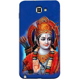 FUSON Designer Back Case Cover for Samsung Galaxy Note N7000 :: Samsung Galaxy Note I9220 :: Samsung Galaxy Note 1 :: Samsung Galaxy Note Gt-N7000 (Ravana Fight Purshottam Hindu God Lotus Vishnu )
