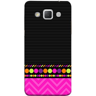 FUSON Designer Back Case Cover for Samsung Galaxy Grand Max G720 (White Pack Craft Paper Dots Black Background)