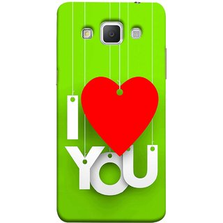 FUSON Designer Back Case Cover for Samsung Galaxy Grand Max G720 (Just Green Say Always I Love You Red Hearts Couples)