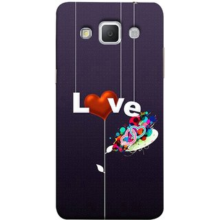 FUSON Designer Back Case Cover for Samsung Galaxy Grand Max G720 (Hearts Hanging Ropes Free Love Tree Multicolour)