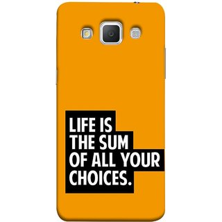 FUSON Designer Back Case Cover for Samsung Galaxy Grand Max G720 (Jindgi Tumhari Nirnay Ka Natija Hai Long Life)