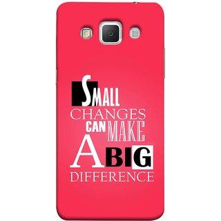 FUSON Designer Back Case Cover for Samsung Galaxy Grand Max G720 (Chote Chote Badlav Bada Farak Best Quotes Sayings)