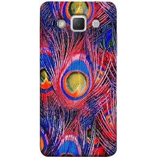 FUSON Designer Back Case Cover for Samsung Galaxy Grand Max G720 (Nice Colourful Long Peacock Feathers Beak)