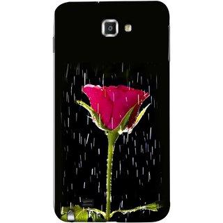 FUSON Designer Back Case Cover for Samsung Galaxy Note N7000 :: Samsung Galaxy Note I9220 :: Samsung Galaxy Note 1 :: Samsung Galaxy Note Gt-N7000 (Red Rose Love Pink Water Raining Flowers )