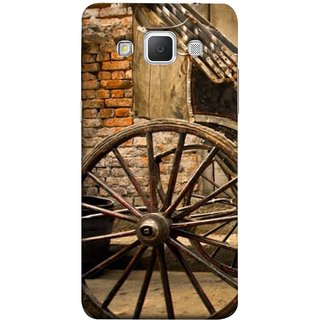 FUSON Designer Back Case Cover for Samsung Galaxy Grand Max G720 (Wheel Hay Cart Old Wagons Indian Cycle Rickshow)