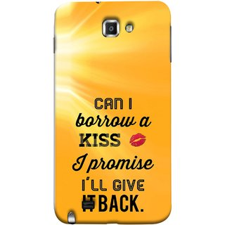 FUSON Designer Back Case Cover for Samsung Galaxy Note N7000 :: Samsung Galaxy Note I9220 :: Samsung Galaxy Note 1 :: Samsung Galaxy Note Gt-N7000 (Lips Kisses I Promise I Will Give It Back Valentine)
