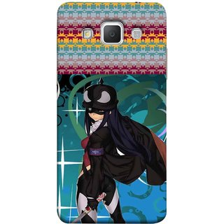FUSON Designer Back Case Cover for Samsung Galaxy Grand Max G720 (Blue Background Woman Standing Holding Warrior Fantasy)