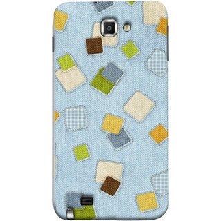 FUSON Designer Back Case Cover for Samsung Galaxy Note N7000 :: Samsung Galaxy Note I9220 :: Samsung Galaxy Note 1 :: Samsung Galaxy Note Gt-N7000 (Lot Colours Squares Patch Tiles Brown White Checks )