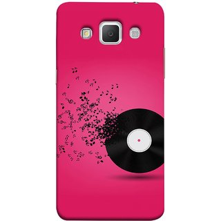 FUSON Designer Back Case Cover for Samsung Galaxy Grand Max G720 (Vinyl Disc With Music Notes Music Lover And Collector )
