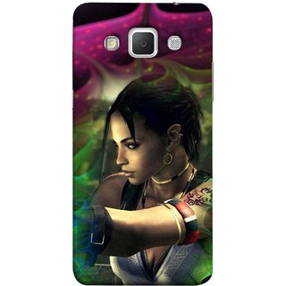 FUSON Designer Back Case Cover for Samsung Galaxy Grand Max G720 (Anime Ninja Girl Wallpaper Cartoon Tatoo Design )