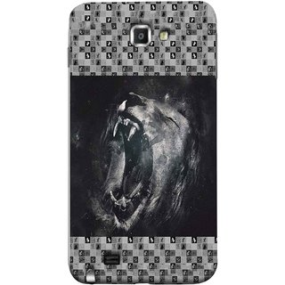 FUSON Designer Back Case Cover for Samsung Galaxy Note N7000 :: Samsung Galaxy Note I9220 :: Samsung Galaxy Note 1 :: Samsung Galaxy Note Gt-N7000 (Grey Canvas Wallpaper Grey Background Leopards)