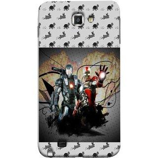 FUSON Designer Back Case Cover for Samsung Galaxy Note N7000 :: Samsung Galaxy Note I9220 :: Samsung Galaxy Note 1 :: Samsung Galaxy Note Gt-N7000 (Action Hero Childrens Superhero Ironman Vs Black Ironman )