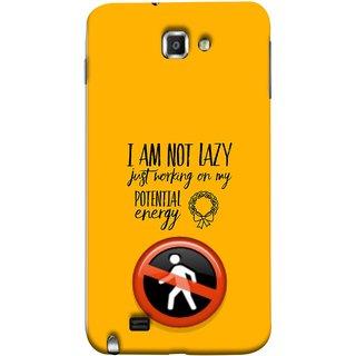 FUSON Designer Back Case Cover for Samsung Galaxy Note N7000 :: Samsung Galaxy Note I9220 :: Samsung Galaxy Note 1 :: Samsung Galaxy Note Gt-N7000 (Potential Energy Your Emotions No Walk Sign)