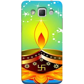 FUSON Designer Back Case Cover for Samsung Galaxy Grand Max G720 (Wallpaper Vector Beautiful Vector Diwali Diya)
