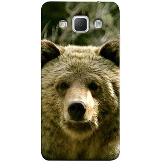FUSON Designer Back Case Cover for Samsung Galaxy Grand Max G720 (Bhalu Looking At You Animal Forest Green Background)