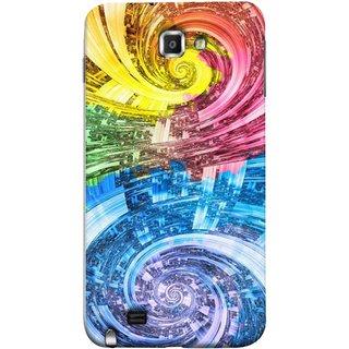 FUSON Designer Back Case Cover for Samsung Galaxy Note N7000 :: Samsung Galaxy Note I9220 :: Samsung Galaxy Note 1 :: Samsung Galaxy Note Gt-N7000 (Yellow Pink Blue Green Galaxy Waves Circles Sprial)
