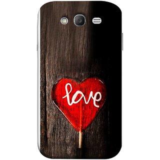 FUSON Designer Back Case Cover for Samsung Galaxy Grand Neo I9060 :: Samsung Galaxy Grand Lite (Big Tree Dark Red Candy Heart Shape)