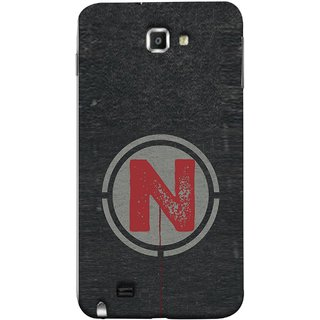 FUSON Designer Back Case Cover for Samsung Galaxy Note N7000 :: Samsung Galaxy Note I9220 :: Samsung Galaxy Note 1 :: Samsung Galaxy Note Gt-N7000 (N Is Ok Initial Red Glossy Round Icon N Random Red)