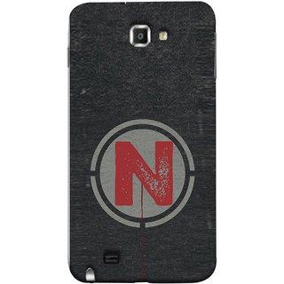 FUSON Designer Back Case Cover for Samsung Galaxy Note N7000 :: Samsung Galaxy Note I9220 :: Samsung Galaxy Note 1 :: Samsung Galaxy Note Gt-N7000 (N Is Ok Initial Red Glossy Round Icon N Random Red)