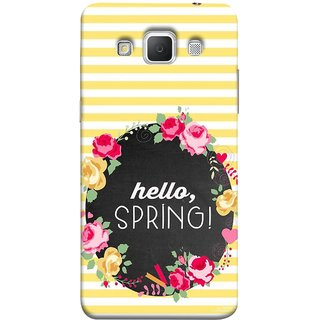 FUSON Designer Back Case Cover for Samsung Galaxy Grand Max G720 (Flowers Cake White And Yellow Horizontal Strips )