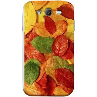 FUSON Designer Back Case Cover for Samsung Galaxy Grand Neo I9060 :: Samsung Galaxy Grand Lite (Nature Colour Big Lotus Leaves Network Of Veins)