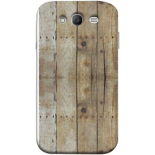 FUSON Designer Back Case Cover for Samsung Galaxy Grand Neo I9060 :: Samsung Galaxy Grand Lite (Wooden Back Cover Plates Nails Cracks Joints)