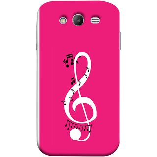 FUSON Designer Back Case Cover for Samsung Galaxy Grand Neo I9060 :: Samsung Galaxy Grand Lite (Colorful Music Notes Symbols Small Black Notes)