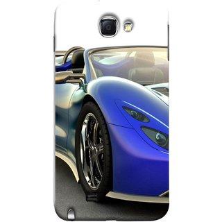 FUSON Designer Back Case Cover for Samsung Galaxy Note 2 :: Samsung Galaxy Note Ii N7100 (Italia Wild Beautiful Design Tyres Front Lights )