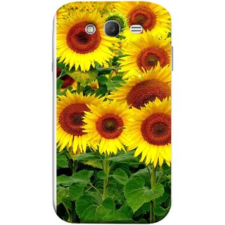 FUSON Designer Back Case Cover for Samsung Galaxy Grand Neo Plus I9060I :: Samsung Galaxy Grand Neo+ (Field Of Bright Happy Sunflowers Outside Oil Food)