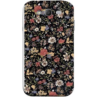 FUSON Designer Back Case Cover for Samsung Galaxy Grand Neo Plus I9060I :: Samsung Galaxy Grand Neo+ (Cotton Quilt Fabric Susie Butterfly Floral )