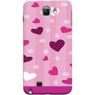 FUSON Designer Back Case Cover for Samsung Galaxy Note 2 :: Samsung Galaxy Note Ii N7100 (Always I Love You Red Hearts Couples Together Valentine)