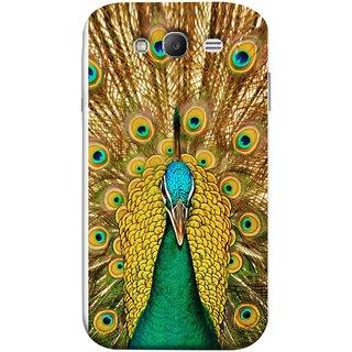 FUSON Designer Back Case Cover for Samsung Galaxy Grand Neo Plus I9060I :: Samsung Galaxy Grand Neo+ (Nice Colourful Long Peacock Feathers Beak)