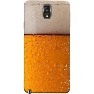 FUSON Designer Back Case Cover for Samsung Galaxy Note 3 :: Samsung Galaxy Note Iii :: Samsung Galaxy Note 3 N9002 :: Samsung Galaxy Note 3 N9000 N9005 (Cold Chilled Beer Glass Tub Pint Bubbles Full)