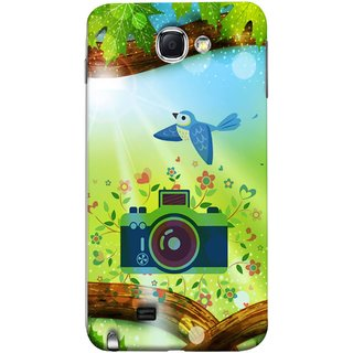 FUSON Designer Back Case Cover for Samsung Galaxy Note 2 :: Samsung Galaxy Note Ii N7100 (Camera Nature Flowers Blue Sky White Clouds Beautiful )