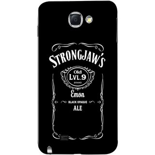 FUSON Designer Back Case Cover for Samsung Galaxy Note 2 :: Samsung Galaxy Note Ii N7100 (Critical Role Drinks Level 9 Brand Emon Black Opaque )