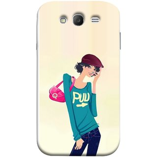 FUSON Designer Back Case Cover for Samsung Galaxy Grand Neo Plus I9060I :: Samsung Galaxy Grand Neo+ (Morden Lady Tshirt Jeans Cap Beautiful Girly)