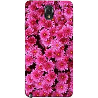 FUSON Designer Back Case Cover for Samsung Galaxy Note 3 :: Samsung Galaxy Note Iii :: Samsung Galaxy Note 3 N9002 :: Samsung Galaxy Note 3 N9000 N9005 (Thousands Flowers Magenta Mums Nature Pink)