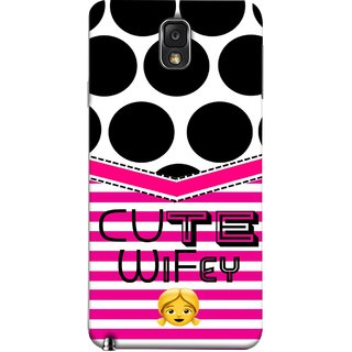 FUSON Designer Back Case Cover for Samsung Galaxy Note 3 :: Samsung Galaxy Note Iii :: Samsung Galaxy Note 3 N9002 :: Samsung Galaxy Note 3 N9000 N9005 (Beautiful Wife Husband Nice Couples Pink Design Paper)
