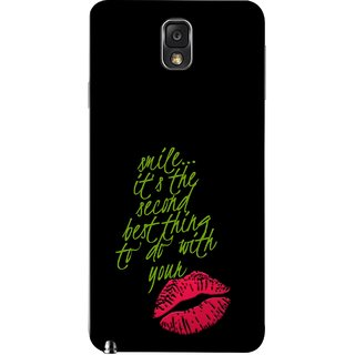 FUSON Designer Back Case Cover for Samsung Galaxy Note 3 :: Samsung Galaxy Note Iii :: Samsung Galaxy Note 3 N9002 :: Samsung Galaxy Note 3 N9000 N9005 (To Do With Your Lips Kisses Kiss Lovers Couples)
